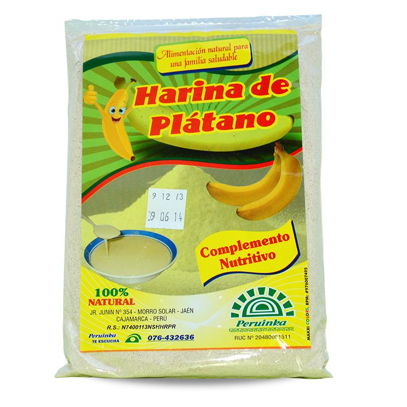 Harina de Plátano, Harinas, Industrias Peruinka - Jaén - Perú